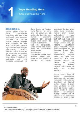Preacher Word Template, First Inner Page, 02719, Religious/Spiritual — PoweredTemplate.com