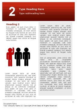 Opinion Word Template, Second Inner Page, 02720, Education & Training — PoweredTemplate.com