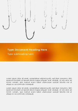 Hooks Word Template, Cover Page, 02722, Business Concepts — PoweredTemplate.com