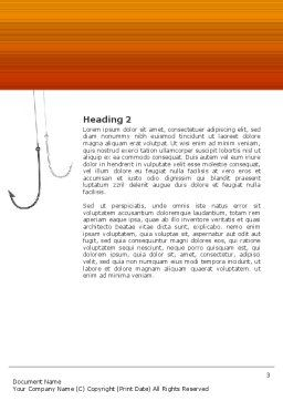 Hooks Word Template, Second Inner Page, 02722, Business Concepts — PoweredTemplate.com