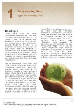 World in Hands Word Template First Inner Page