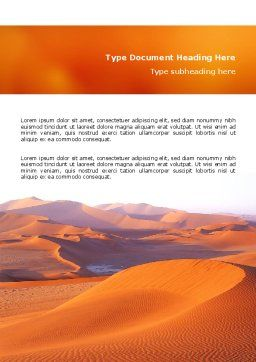 Red Desert Word Template, Cover Page, 02728, Nature & Environment — PoweredTemplate.com