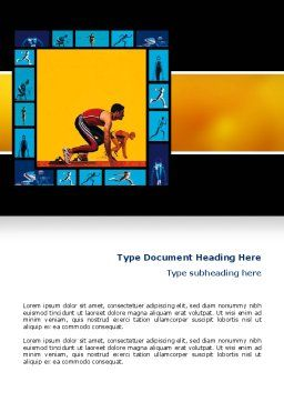 Athletics Word Template, Cover Page, 02729, Sports — PoweredTemplate.com