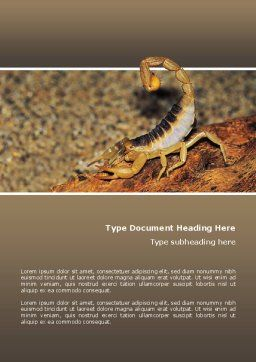 Desert Hairy Scorpion Word Template, Cover Page, 02731, Agriculture and Animals — PoweredTemplate.com