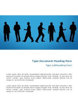 Movement Of People Word Template, Cover Page, 02732, Business — PoweredTemplate.com