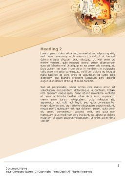 Clockwork Word Template, Second Inner Page, 02734, Abstract/Textures — PoweredTemplate.com