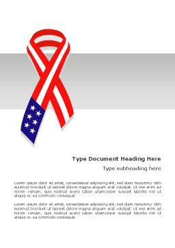 Patriot Ribbon Word Template, Cover Page, 02739, Holiday/Special Occasion — PoweredTemplate.com
