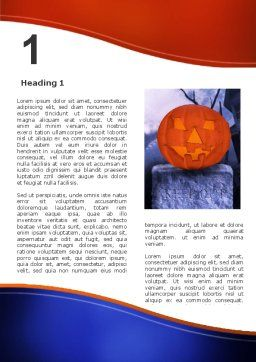 Jack-o-lantern In The Scary Night Word Template, First Inner Page, 02741, Holiday/Special Occasion — PoweredTemplate.com