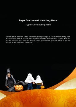 Trick or Treat Word Template, Cover Page, 02746, Holiday/Special Occasion — PoweredTemplate.com