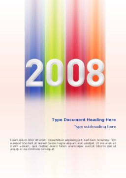 NYr 2008 in color Word Template, Cover Page, 02747, Business Concepts — PoweredTemplate.com