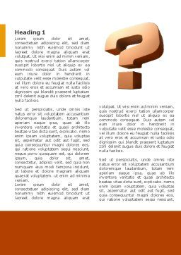 Question Mark In 3D Word Template, First Inner Page, 02749, Consulting — PoweredTemplate.com