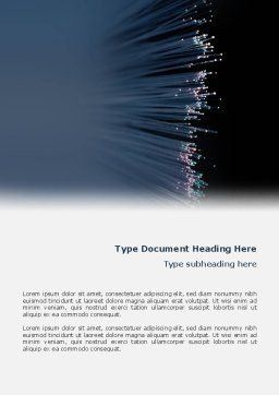 Optic Fiber Word Template, Cover Page, 02753, Telecommunication — PoweredTemplate.com
