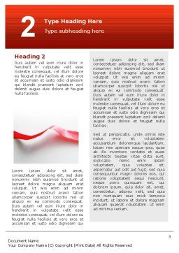 Heart Ribbon Word Template, Second Inner Page, 02757, Holiday/Special Occasion — PoweredTemplate.com
