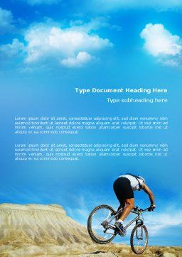 Mountain Cyclist Word Template, Cover Page, 02760, Sports — PoweredTemplate.com
