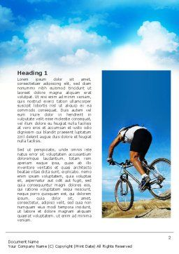 Mountain Cyclist Word Template, First Inner Page, 02760, Sports — PoweredTemplate.com