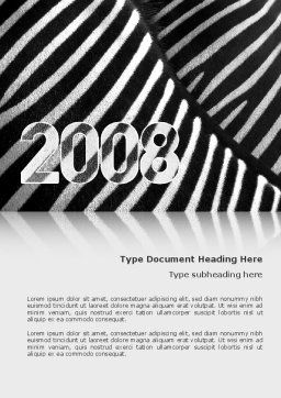 Zebra 2008 Word Template, Cover Page, 02762, Business Concepts — PoweredTemplate.com