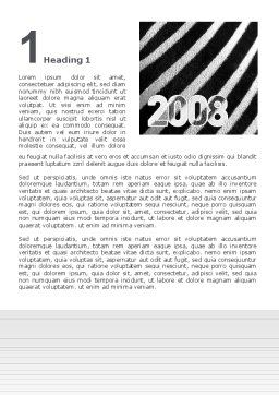 Zebra 2008 Word Template, First Inner Page, 02762, Business Concepts — PoweredTemplate.com