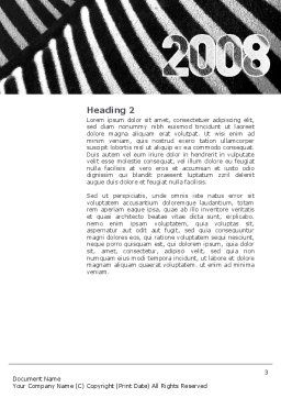 Zebra 2008 Word Template, Second Inner Page, 02762, Business Concepts — PoweredTemplate.com