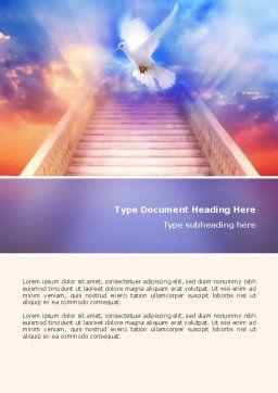 Holy Benediction Word Template, Cover Page, 02764, Religious/Spiritual — PoweredTemplate.com