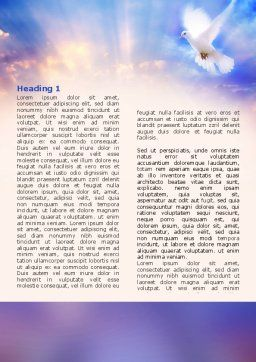 Holy Benediction Word Template, First Inner Page, 02764, Religious/Spiritual — PoweredTemplate.com