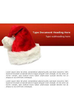 Santa Hat Word Template, Cover Page, 02766, Holiday/Special Occasion — PoweredTemplate.com