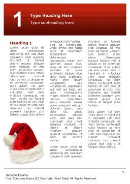 Santa Hat Word Template, First Inner Page, 02766, Holiday/Special Occasion — PoweredTemplate.com