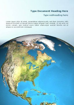 Animated Earth Word Template, Cover Page, 02767, Global — PoweredTemplate.com