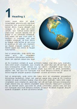Animated Earth Word Template, First Inner Page, 02767, Global — PoweredTemplate.com