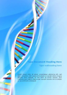 Genome Word Template, Cover Page, 02774, Medical — PoweredTemplate.com