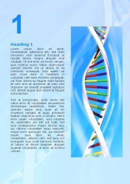 Genome Word Template, First Inner Page, 02774, Medical — PoweredTemplate.com