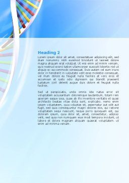Genome Word Template, Second Inner Page, 02774, Medical — PoweredTemplate.com