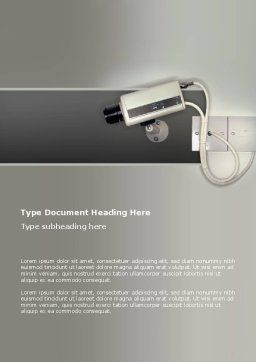 Security Camera Word Template, Cover Page, 02776, Technology, Science & Computers — PoweredTemplate.com