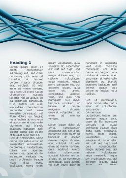 Aqua Blue Wires Word Template, First Inner Page, 02781, Telecommunication — PoweredTemplate.com