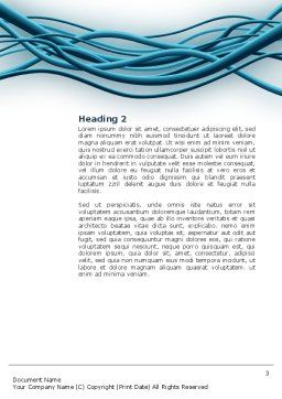 Aqua Blue Wires Word Template, Second Inner Page, 02781, Telecommunication — PoweredTemplate.com
