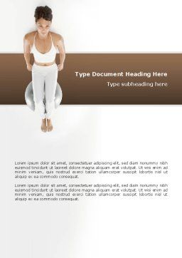 Fitness With Gymnastic Ball Word Template, Cover Page, 02783, People — PoweredTemplate.com