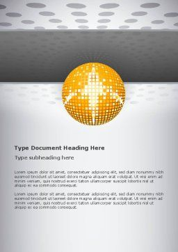 Disco Ball Word Template Cover Page