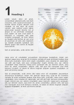 Disco Ball Word Template First Inner Page