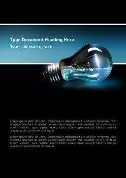 Light Technology Word Template, Cover Page, 02788, Business Concepts — PoweredTemplate.com