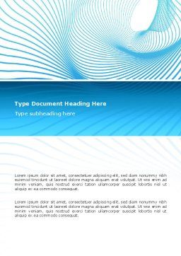 Abstract Word Template, Cover Page, 02791, Abstract/Textures — PoweredTemplate.com