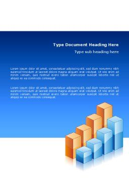 Graphs Word Template, Cover Page, 02792, Business — PoweredTemplate.com