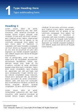 Graphs Word Template, First Inner Page, 02792, Business — PoweredTemplate.com