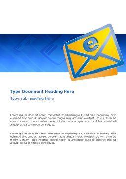 E-mail Word Template, Cover Page, 02793, Telecommunication — PoweredTemplate.com