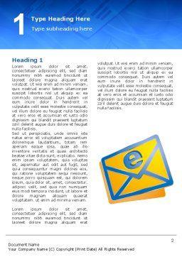 E-mail Word Template, First Inner Page, 02793, Telecommunication — PoweredTemplate.com