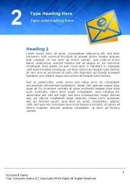 E-mail Word Template, Second Inner Page, 02793, Telecommunication — PoweredTemplate.com