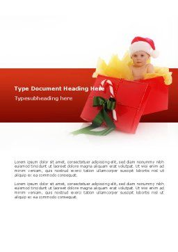 Christmas Gift Word Template, Cover Page, 02795, Holiday/Special Occasion — PoweredTemplate.com