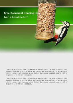 Birdfeeder Word Template, Cover Page, 02796, Nature & Environment — PoweredTemplate.com