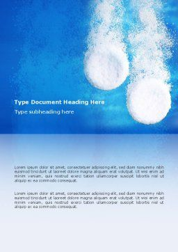 Aspirin Word Template, Cover Page, 02797, Medical — PoweredTemplate.com