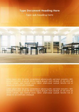 Office Canteen Word Template, Cover Page, 02798, Construction — PoweredTemplate.com
