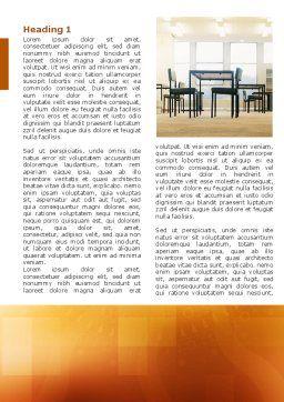 Office Canteen Word Template, First Inner Page, 02798, Construction — PoweredTemplate.com