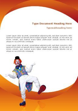 Clown Word Template, Cover Page, 02801, Holiday/Special Occasion — PoweredTemplate.com